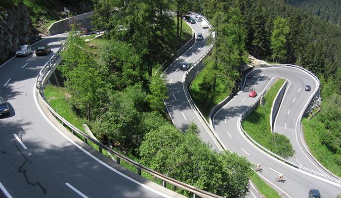 Malojapass Switzerland by Jimmy Gimlet Wikimedia Commons best railway switzerland