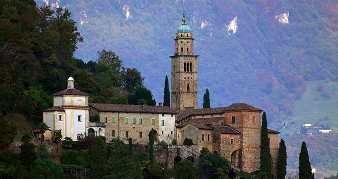 Santa Maria church Morcote by Alessandro Vecchi Wikimedia Commons