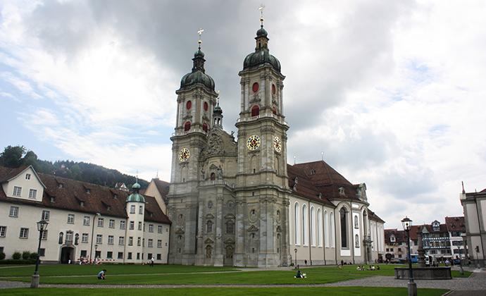 St Gallen Abbey in St Gallen by Dguendel Wikimedia Commons