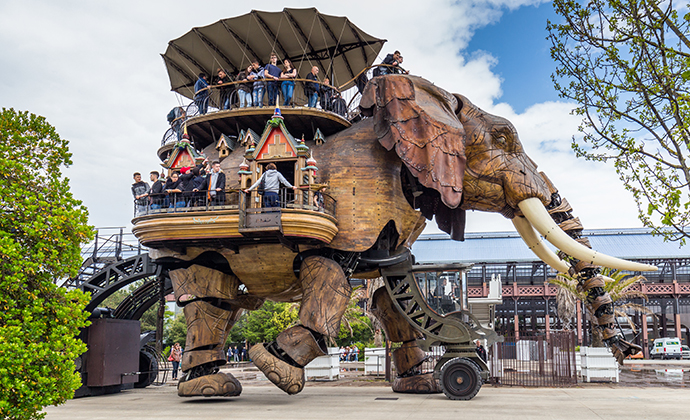 Mechanical elephant, Nantes, The Vendée, France by DaLiu, Shutterstock