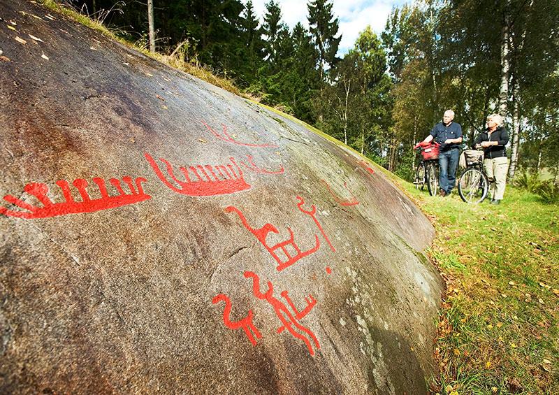 Rock carvings Vitlycke Museum, West Sweden