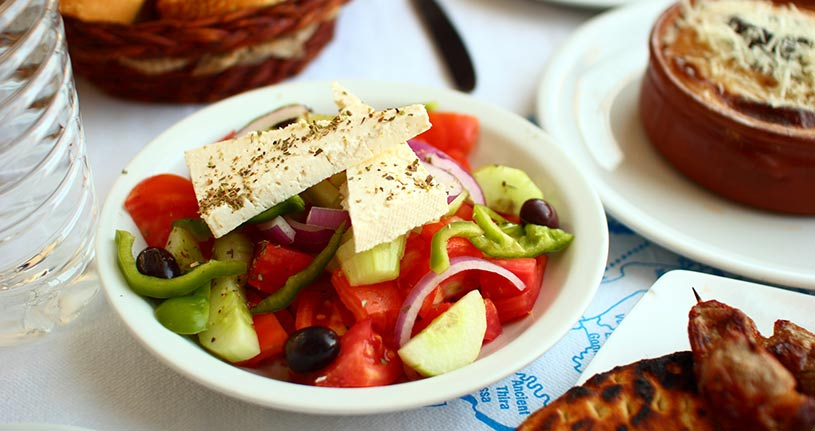 Greek salad Peloponnese Greece Europe by photoantenna flickr
