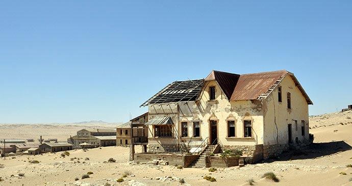 Kolmanskop Namibia by Matej Hudovernik, Shutterstock