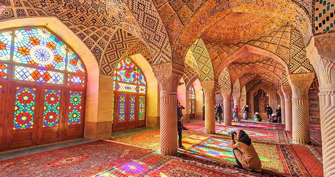 Nasir Ol Molk mosque, Shiraz, Iran © JPRichard, Shutterstock