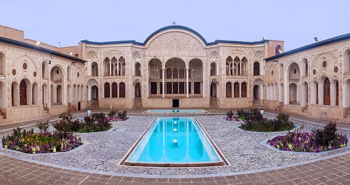 the house of Khaneh Tabatabiyeh kashan iran by m r shutterstock