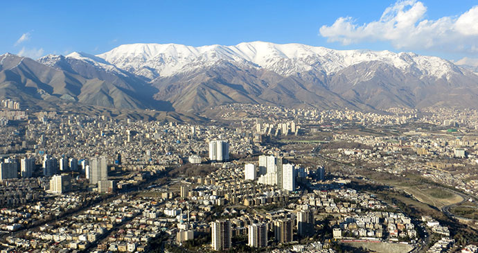 view from milad tower tehran iran by maria oleinik