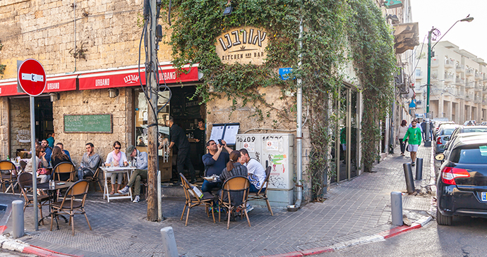 Arab quarter cafe Tel Aviv Israel by Kvitka Fabian, Shutterstock