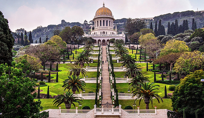 Baha'i Shrine and Persian Gardens in Haifa Israel by Eve81, Shutterstock