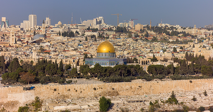 View of Temple Mount Jerusalem Israel by Godot13, Wikimedia Commons