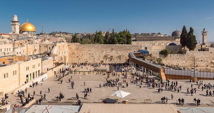Temple Mount and the Western Wall in Jerusalem Israel by Lucky-photographer, Shutterstock
