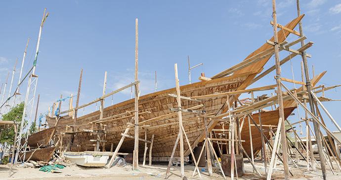 Shipbuilding, Sur, Oman by Zwawol, Dreamstime