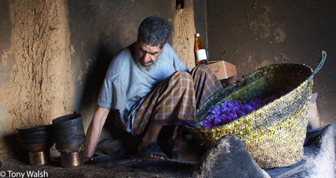 Making rose water in Sayq village, Al Jabal Al Akhdar, Oman © Tony Walsh