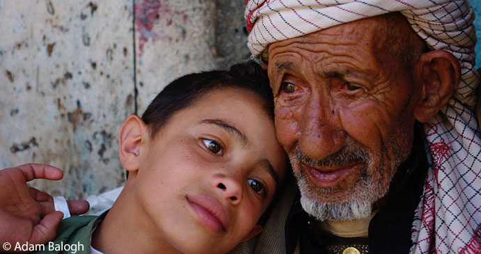Locals in Shibam Yemen by Adam Balogh