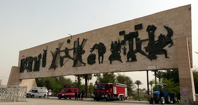 Freedom Monument Liberation Square Baghdad Iraq by Oliver Lee