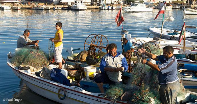 Fishermen in Sidon, Lebanon © Paul Doyle