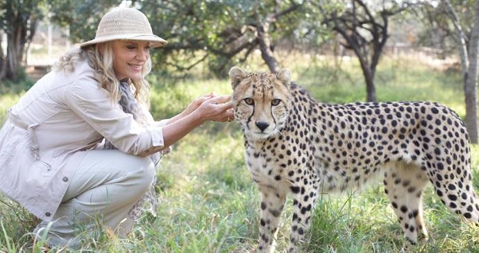 Princess Michael and a cheetah, A Cheetahs Tale, John Swannell