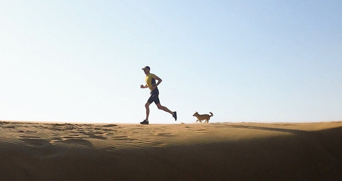 Gobi and Dion running by @findinggobi