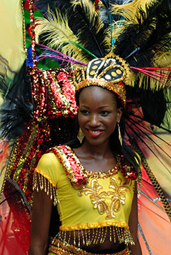 Carnival Girl Roseau Dominica by Celia Sorhaindo Tropical Ties
