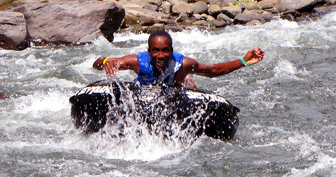 River tubing Dominica by Paul Crask