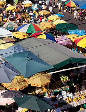 Roseau Market Dominica by Paul Crask