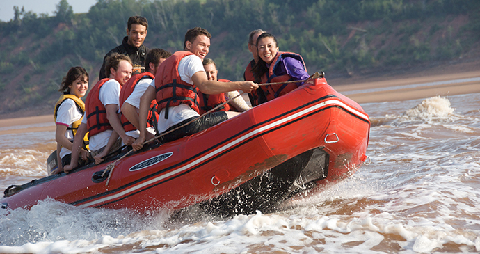 Tidal-bore rafting Shubenacadie River Nova Scotia Canada by Nova Scotia Tourism Agency