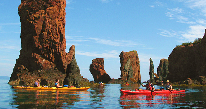 Kayaking Three Sisters Nova Scotia Canada by Nova Scotia Tourism