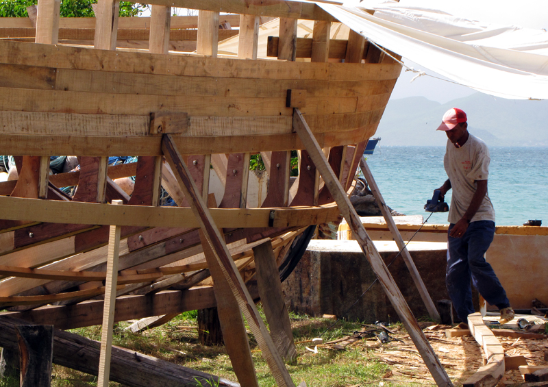 Boatbuilding, Grenada by Paul Crask