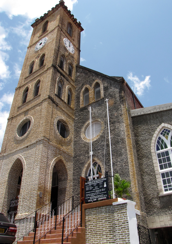 Roman Catholic church in St George's, Grenada by Paul Crask