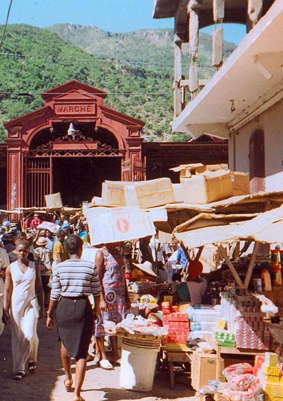 Cap-Haïtien market, Haiti by Doron, Wikipedia