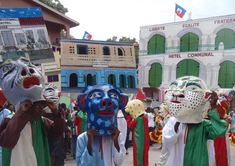 Elaborate masks for Jacmel Carnival, Haiti by Paul Clammer