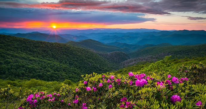 Blue Ridge Mountains Virginia USA The Cardinal train by Dave Allen Photography, Shutterstock