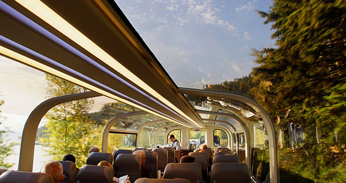 Rocky Mountaineer train Seattle to Calgary Canada USA by Chantal de Bruijne Shutterstock