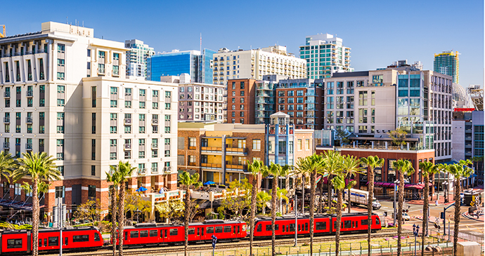 Downtown San Diego Pacific Surfliner California USA by Sean Pavone, Shutterstock
