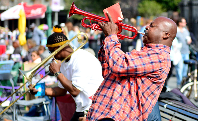 Jazz musician New Orleans USA by Chuck Wagner Shutterstock