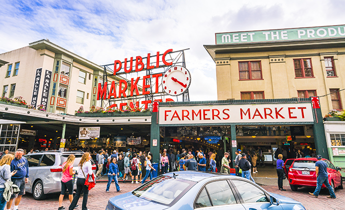 Pike Place Market Seattle USA by Checubus, Shutterstock