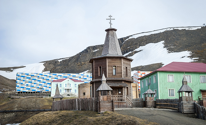 Russian Orthodox church, Barentsburg, Svalbard by Ana Flasker, Shutterstock