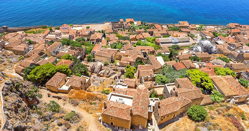Monemvasia Peloponnese Greece Europe by Korpithas Shutterstock