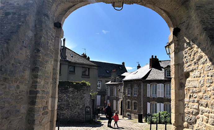 Boulogne old town Calais Kidding Around by Adrian Phillips
