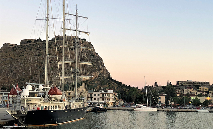 Nafplion harbour Peloponnese Kidding Around by Adrian Phillips