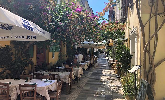 Taverna Nafplio Peloponnese Kidding Around by Adrian Phillips