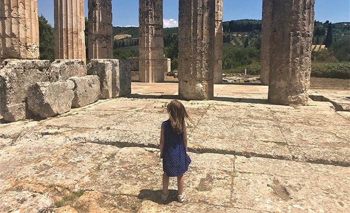 Temple of Zeus Nemea Peloponnese Kidding Around by Adrian Phillips