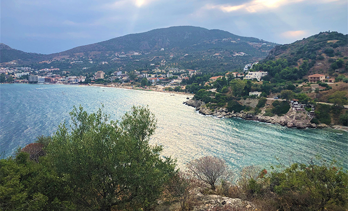 View of Tolon Peloponnese Kidding Around by Adrian Phillips