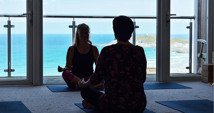 Yin Yoga Newquay Fistral Bay