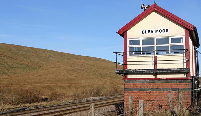 Blea Moor signal box Settle & Carlisle Line Yorkshire by northallertonman, Shutterstock