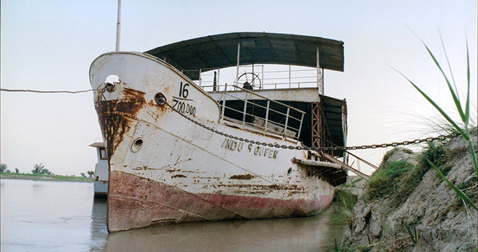Indus Queen ferry Indus River Pakistan by Iain Campbell
