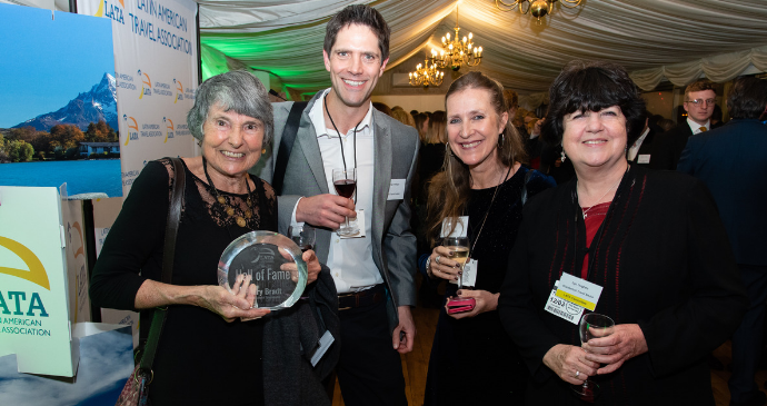 Hilary Bradt, Adrian Phillips, Claire Antell and Lyn Hughes at the LATA awards ceremony, House of Commons, London © LATA