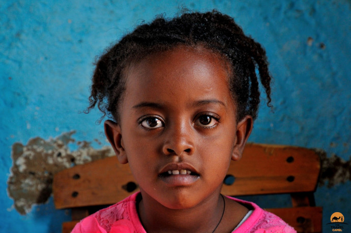 Assertive girl in Axum by photographer of the month Shane Dallas