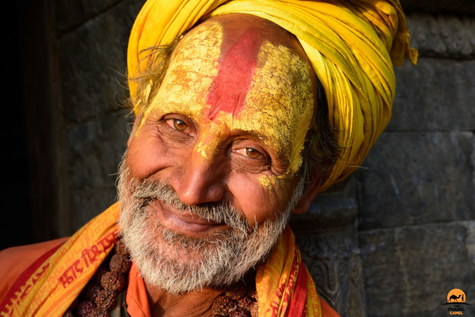 Conversation with a Sadhu by photographer of the month Shane Dallas