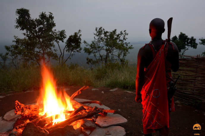 Dusk at Kilima Camp by photographer of the month Shane Dallas