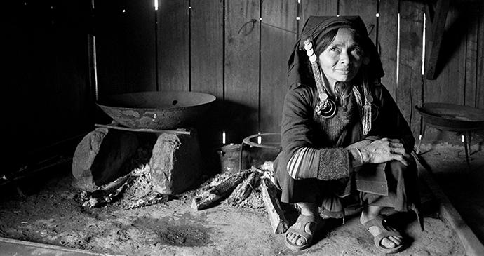 Akha village Buon Pays Laos